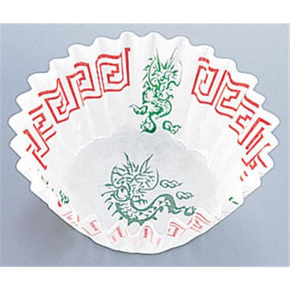 純白ペットケース 中華柄(250枚入) 6号深口 四龍柄