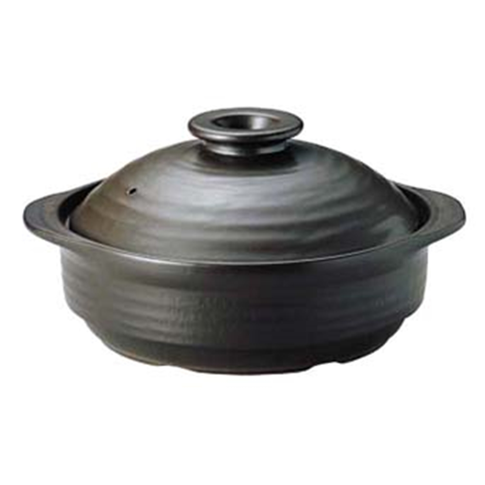 IHサーマテック土鍋 ブラック 8号 ME087