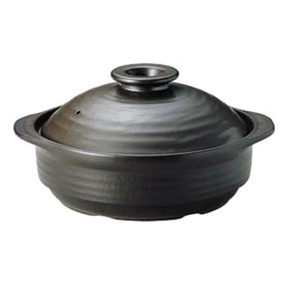 IHサーマテック土鍋 ブラック 9号 ME097