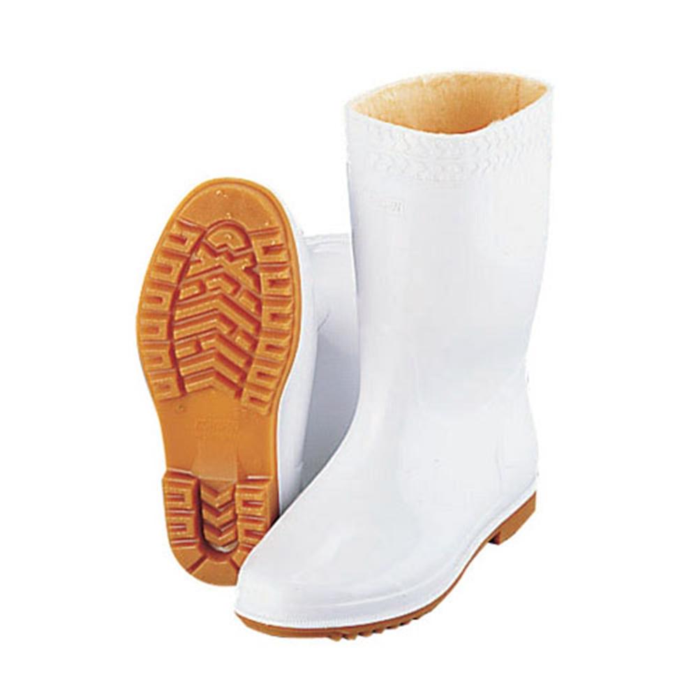 弘進 防寒ゾナ耐油長靴P 白 27cm (ウレタンパイルボア裏)