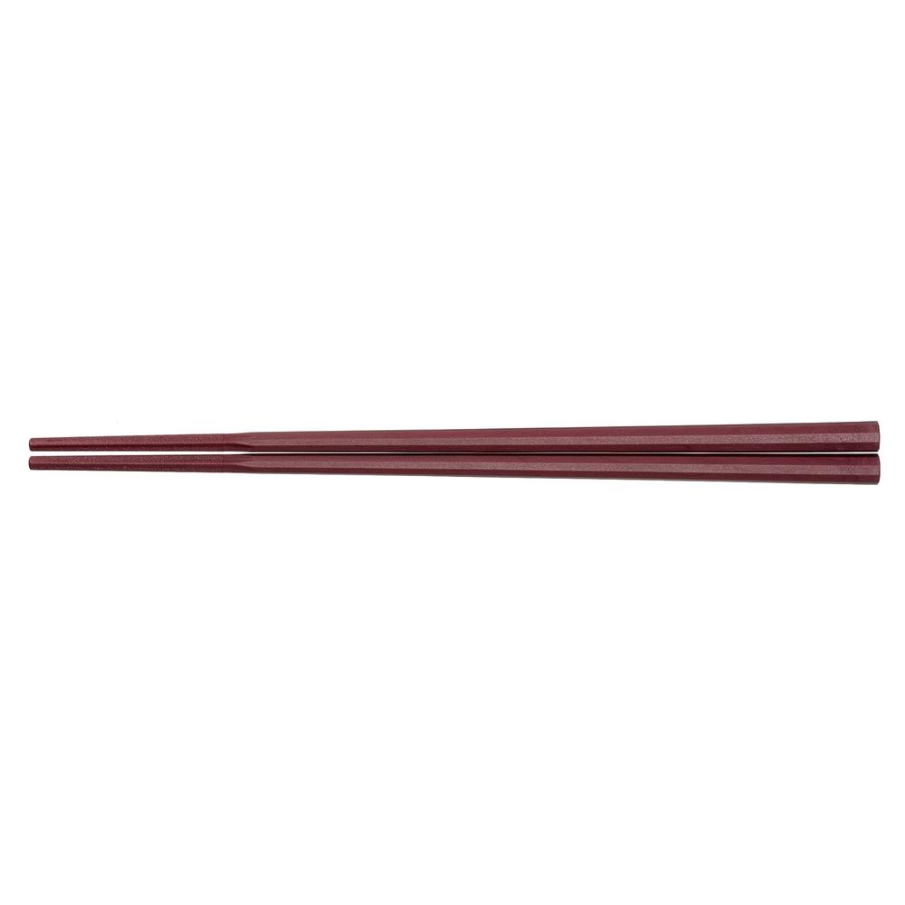10角ぐる麺箸 21cm 朱 GM−4014
