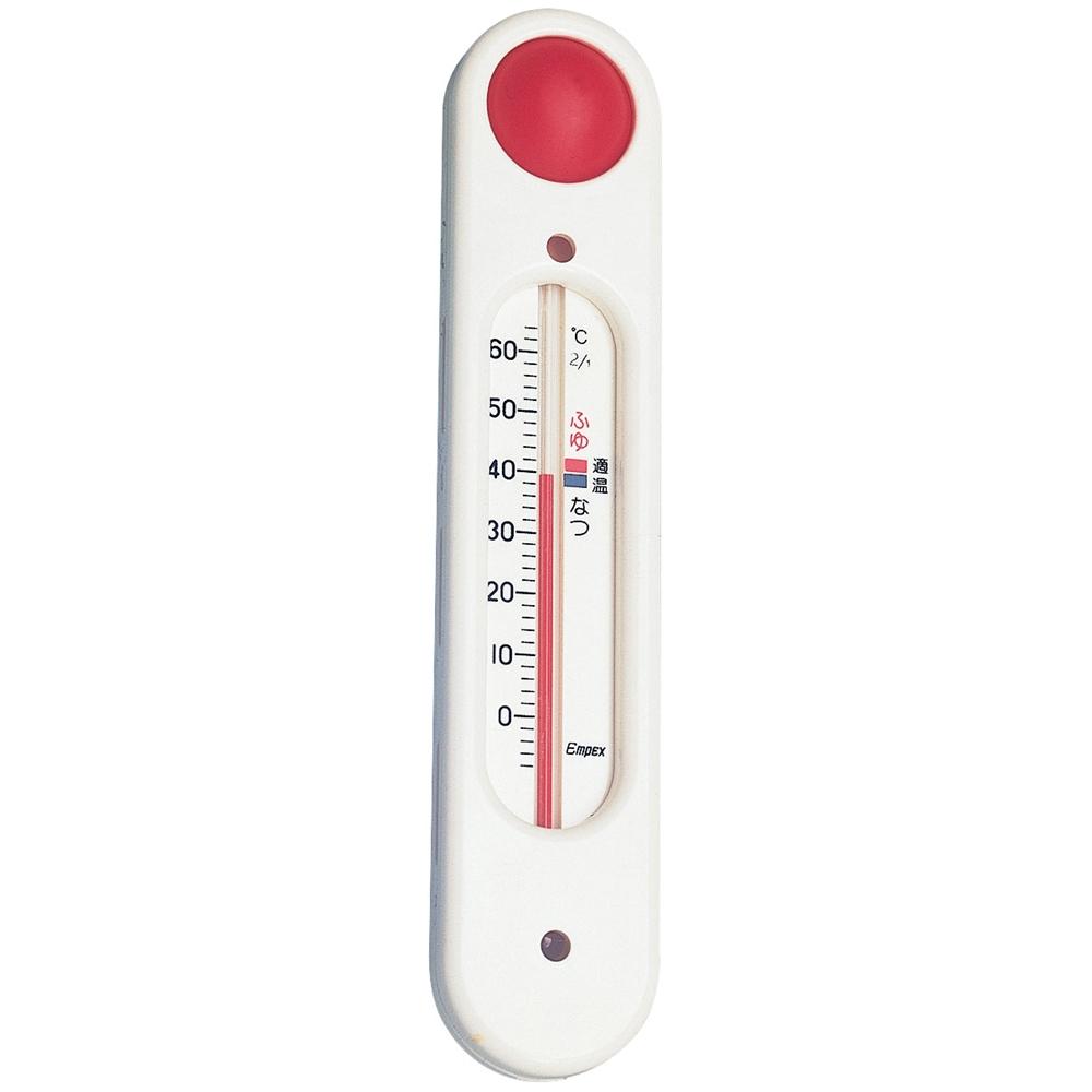元気っ子(吸盤付浮型湯温計) TG−5101 ホワイト