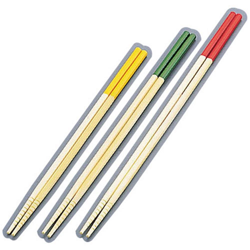 竹製 カラー菜箸3点セット (27cm・30cm・33cm)