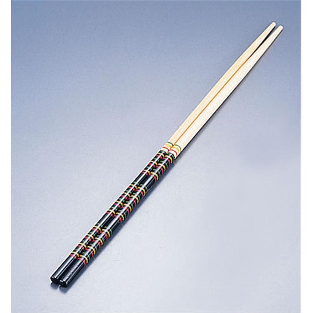竹製 歌舞伎菜箸 黒 33cm