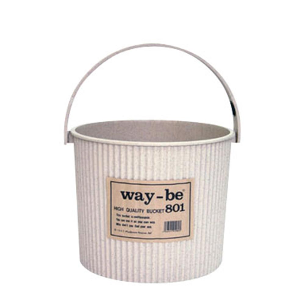 ウェイビー マルチバケツ 8L 801 本体 ベージュ(VE)