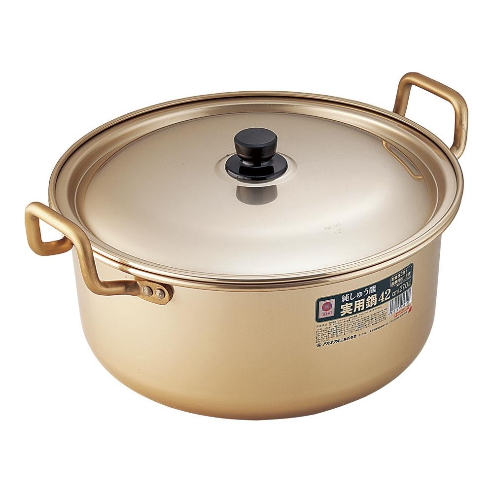 アカオ しゅう酸実用鍋 42cm