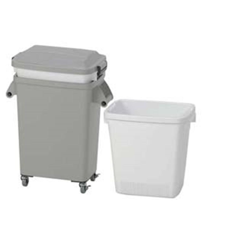 水切り厨房ペール(キャスター付) CW−70 グレー