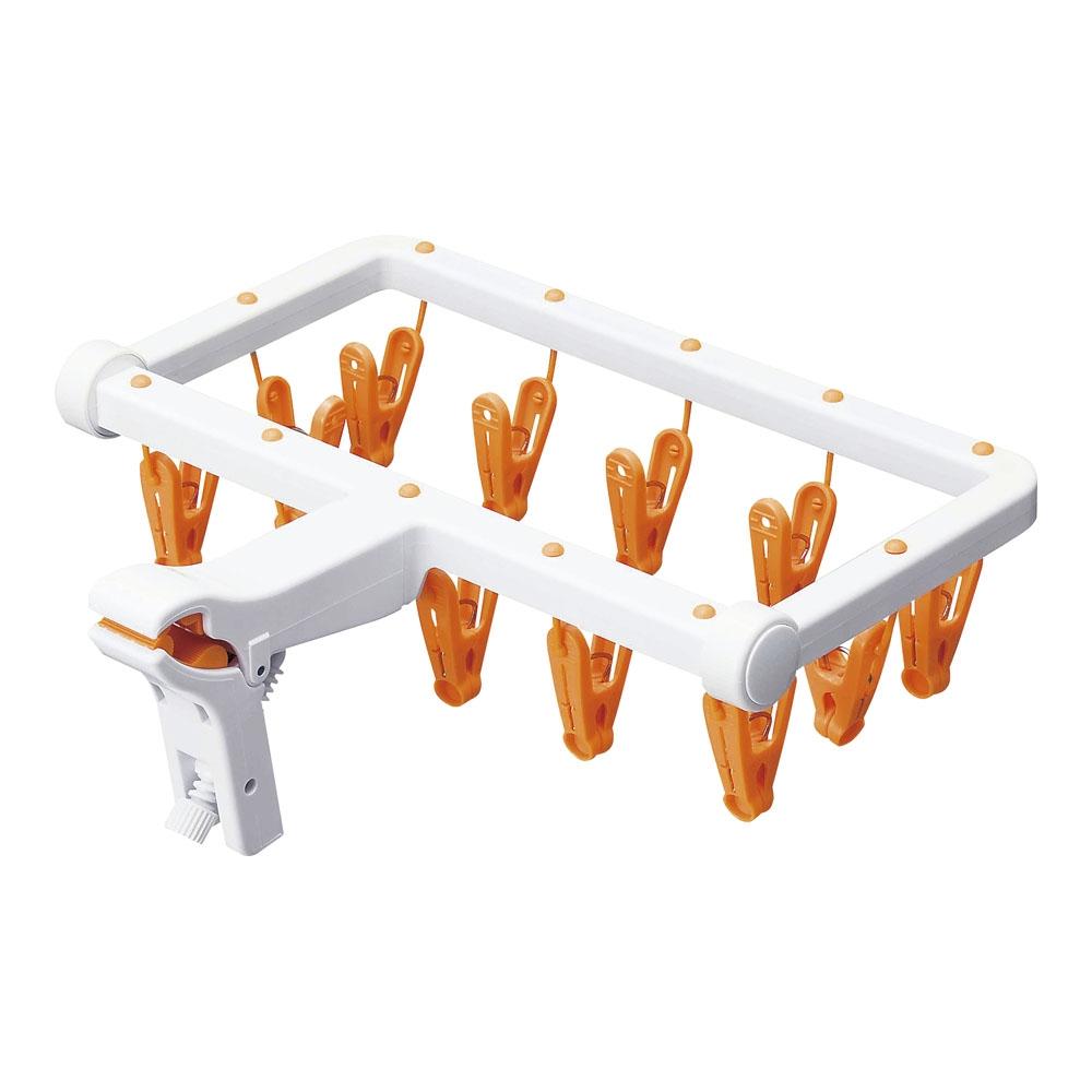 室内干しミニハンガー インナーアームD オレンジ IAD−5014