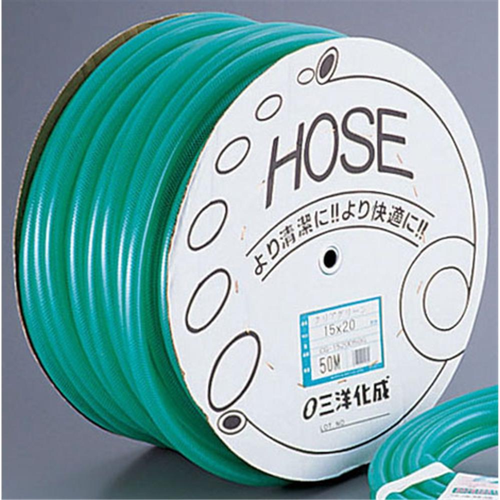 クリアグリーン 水道用ホース 耐圧タイプ (50m巻)