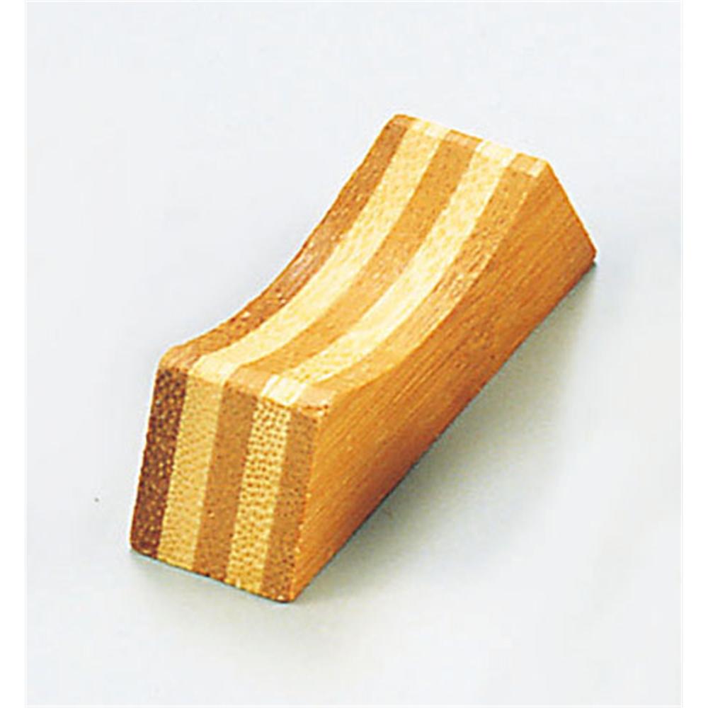 木製箸置 末広(合板)