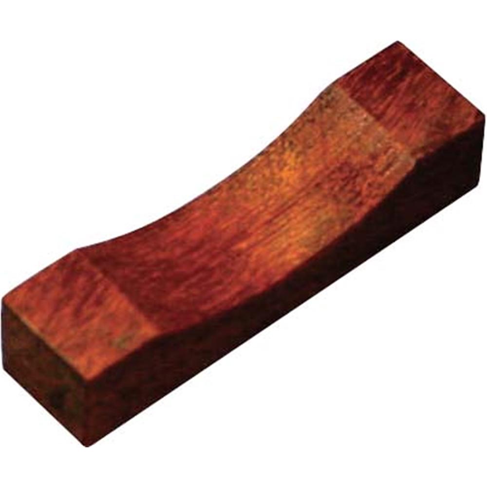 木製 角型箸置 鉄木 目摺り