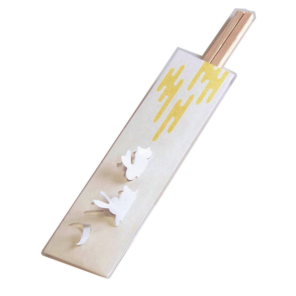 三ッ折箸袋 遊々庭(100枚入) 兎