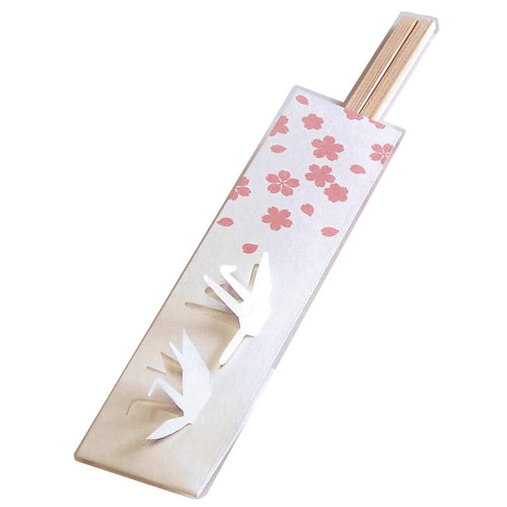 三ッ折箸袋 遊々庭(100枚入) 鶴