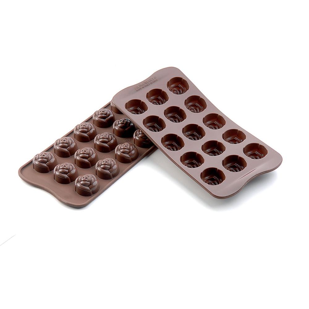 シリコマート チョコレートモルド ローズ SCG13