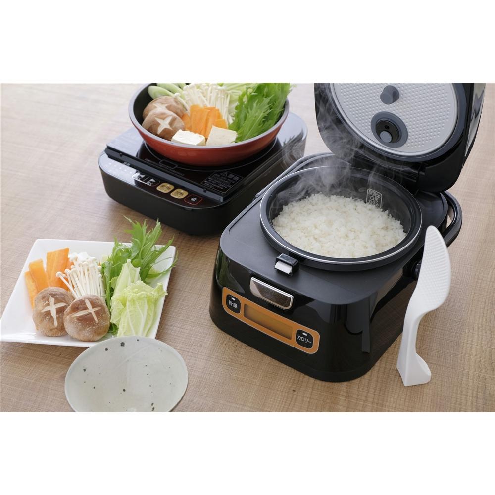 アイリスオーヤマ(IRIS OHYAMA) 米屋の旨み 銘柄量り炊き IHジャー炊飯器 3合 RC-IA31-B