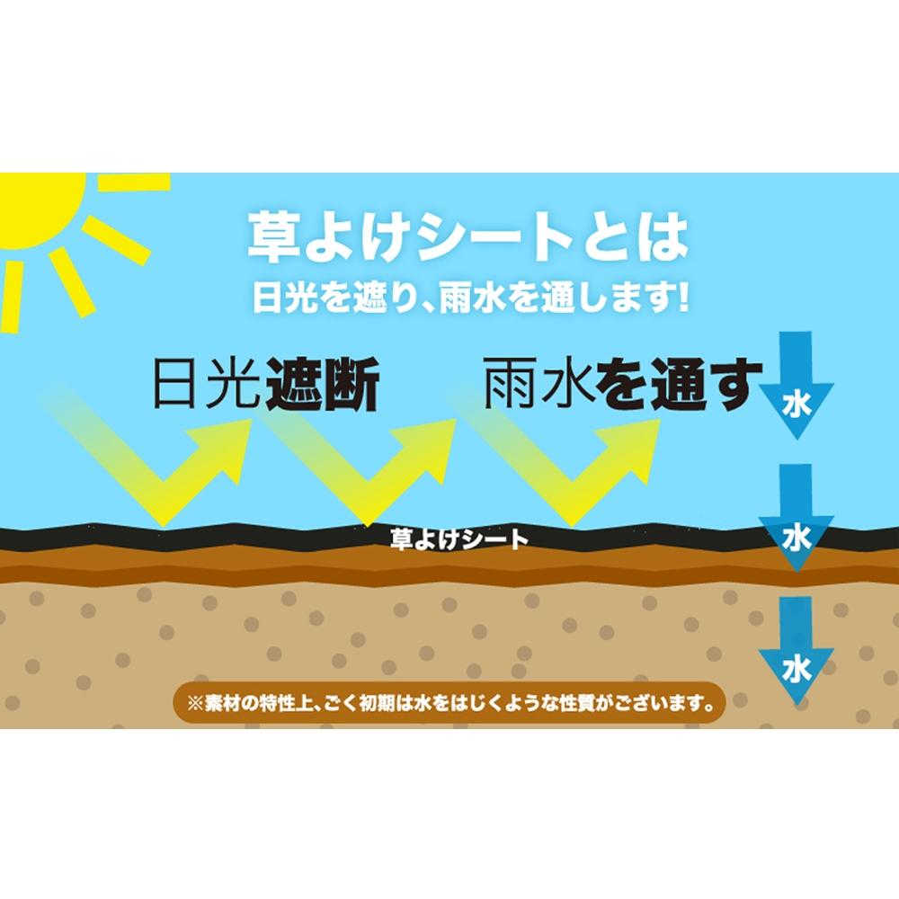 ダイオ化成(Dio) 高密度防草シート 緑色 1m×50m