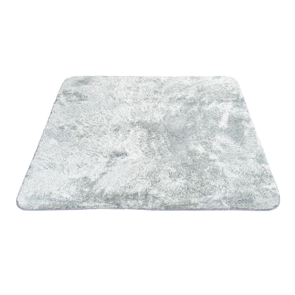お掃除しやすい シャギーラグ 200×240グレー