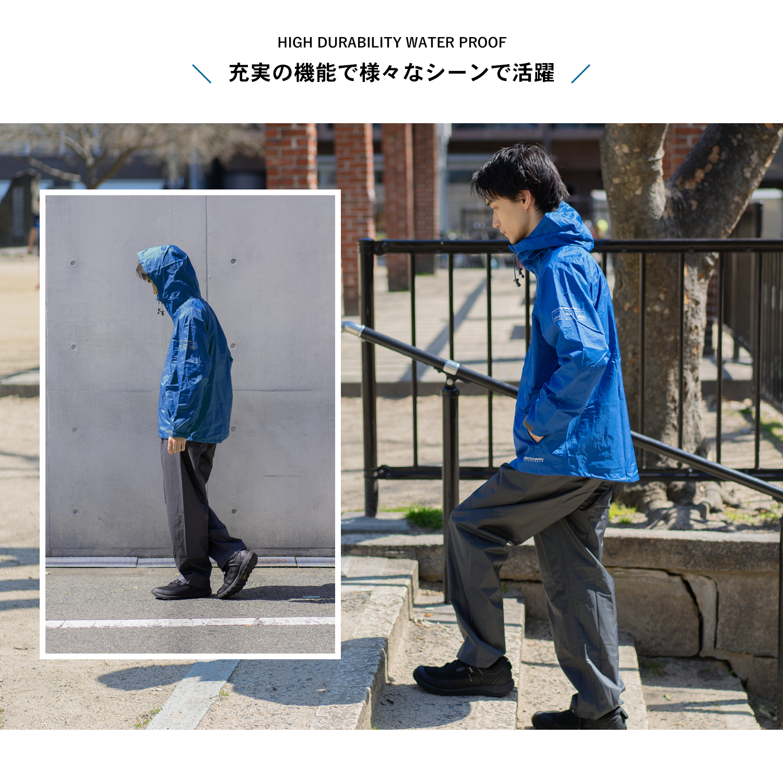 【 めちゃ早便 】コーナン オリジナル アクティブレインスーツ ギャラクティカブルー M KN−008