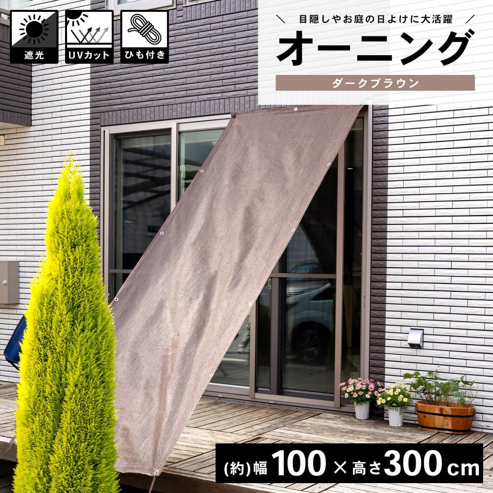 コーナン オリジナル LIFELEX オーニングダークブラウン 約100×300cm