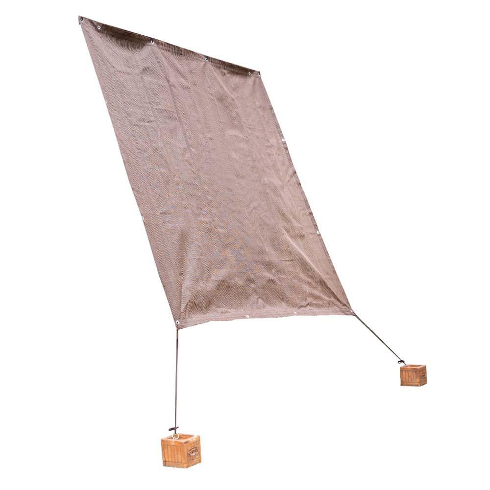 コーナン オリジナル LIFELEX 雨よけオーニング ダークブラウン 約200×200cm