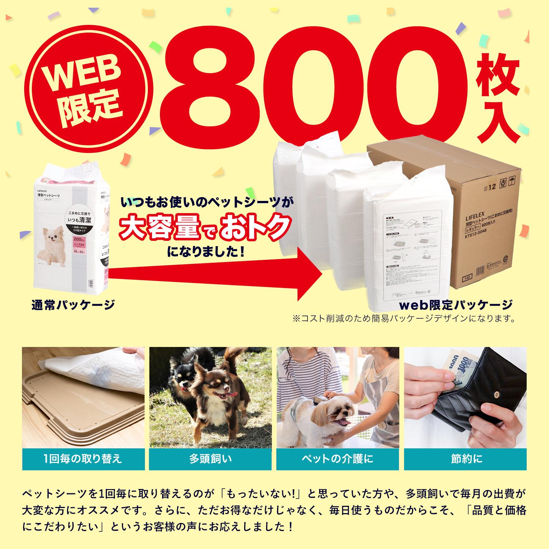コーナン オリジナル 薄型ペットシーツ レギュラー 800枚 通販限定品