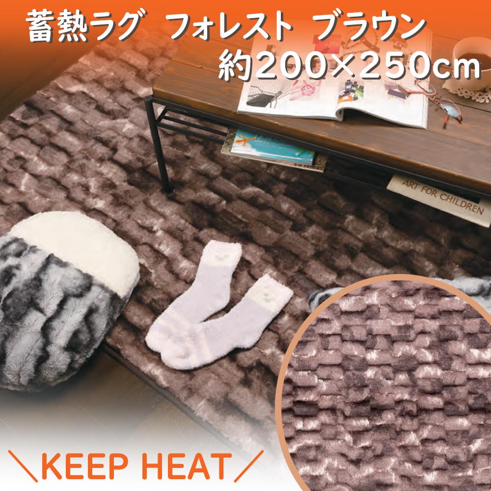 コーナン オリジナル 蓄熱ラグ フォレスト KQJ06−9301