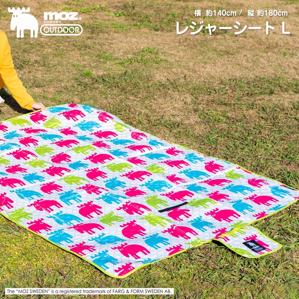 ☆☆ MOZ(モズ) レジャーシートL ヘラジカ柄 幅約140×奥行180cm