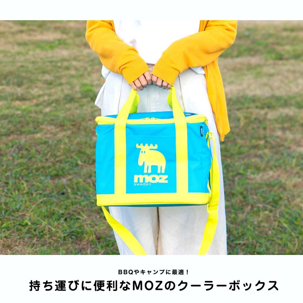 ☆☆ MOZ(モズ) ソフトクーラーバッグ 15L ブルー 幅30×奥行25×高さ26cm