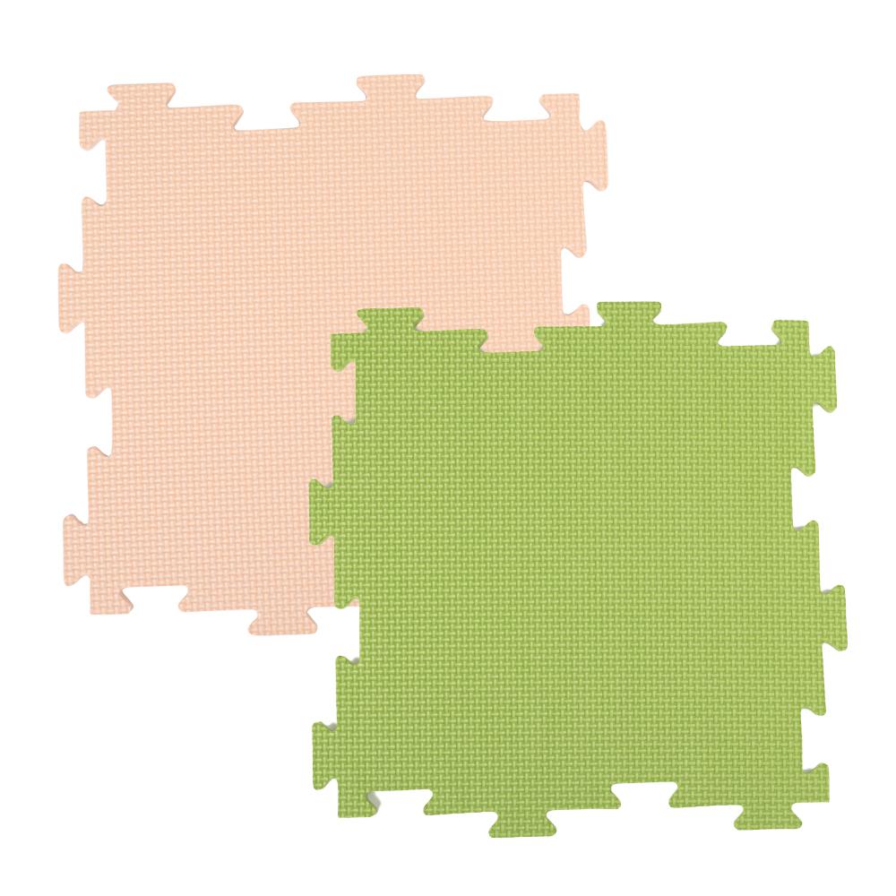 コーナン オリジナル LIFELEX ジョイントマット8P ベージュ/グリーン 約30×30×1cm