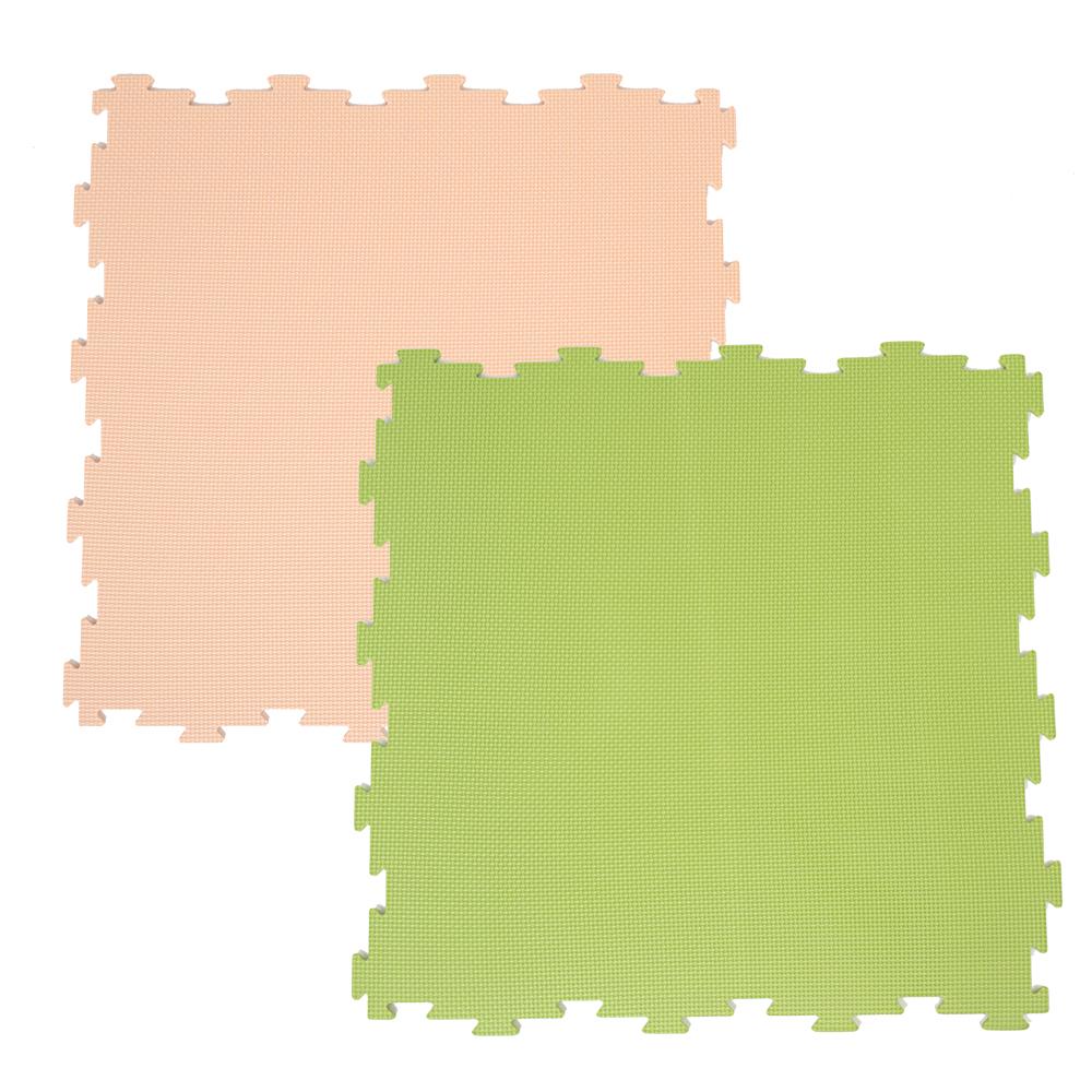 コーナン オリジナル LIFELEX ジョイントマット4P ベージュ/グリーン 約60×60×1cm