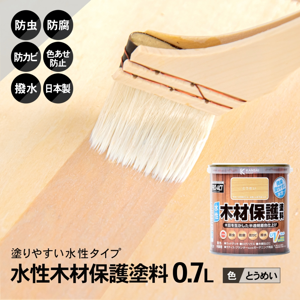 コーナン オリジナル PROACT 水性木材保護塗料 0.7L とうめい