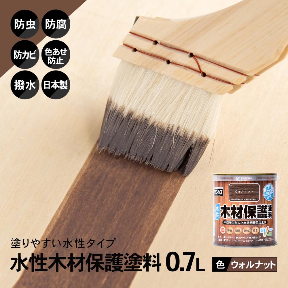 〇コーナン オリジナル PROACT 水性木材保護塗料 0.7L ウォルナット
