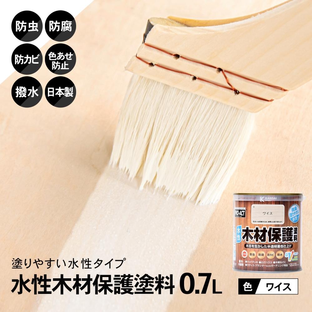 〇コーナン オリジナル PROACT 水性木材保護塗料 0.7L ワイス