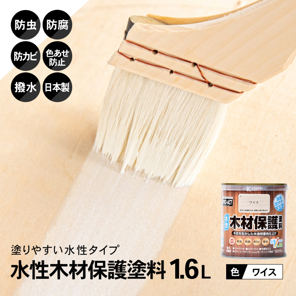 コーナン オリジナル PROACT 水性木材保護塗料 1.6L ワイス