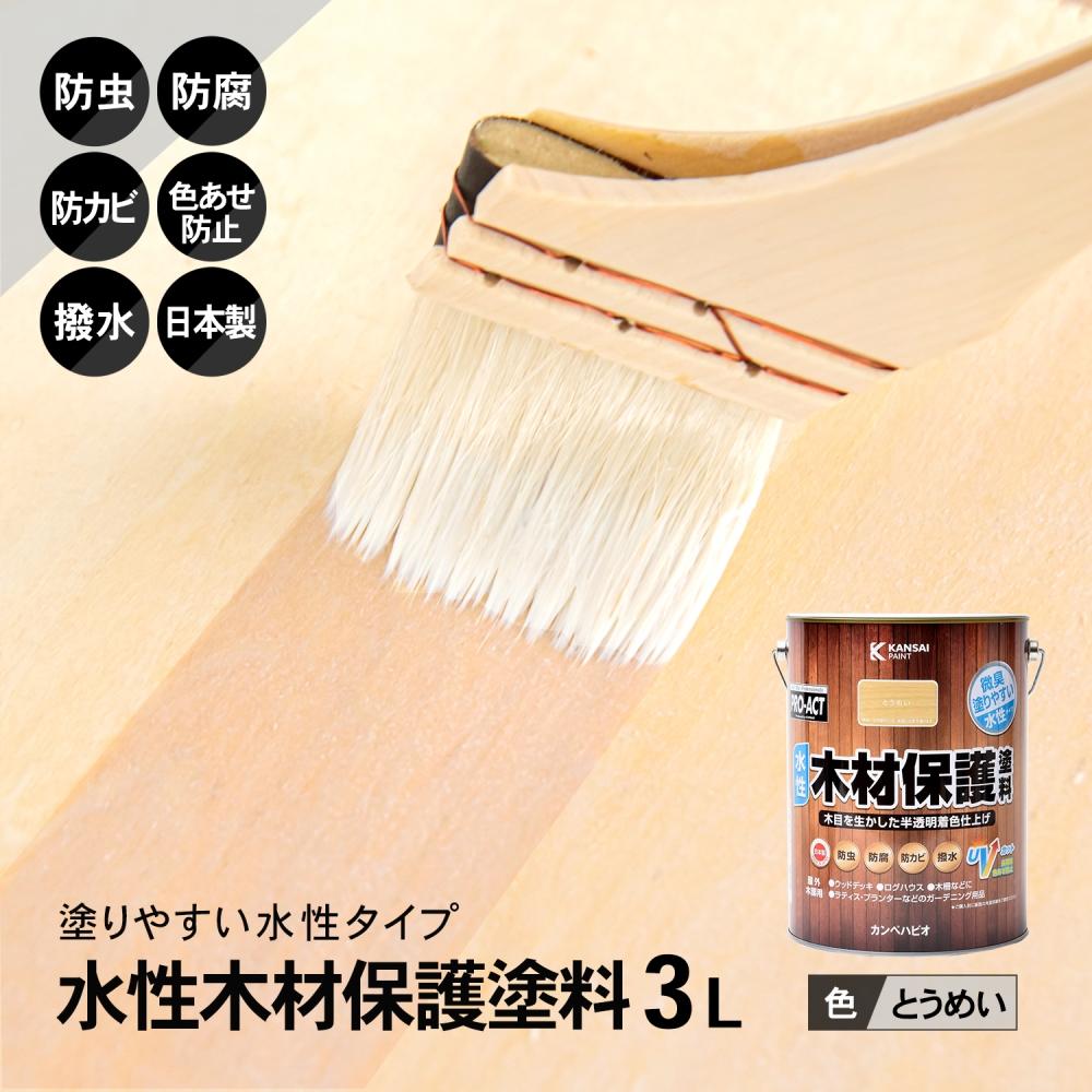 コーナン オリジナル PROACT 水性木材保護塗料 3L とうめい
