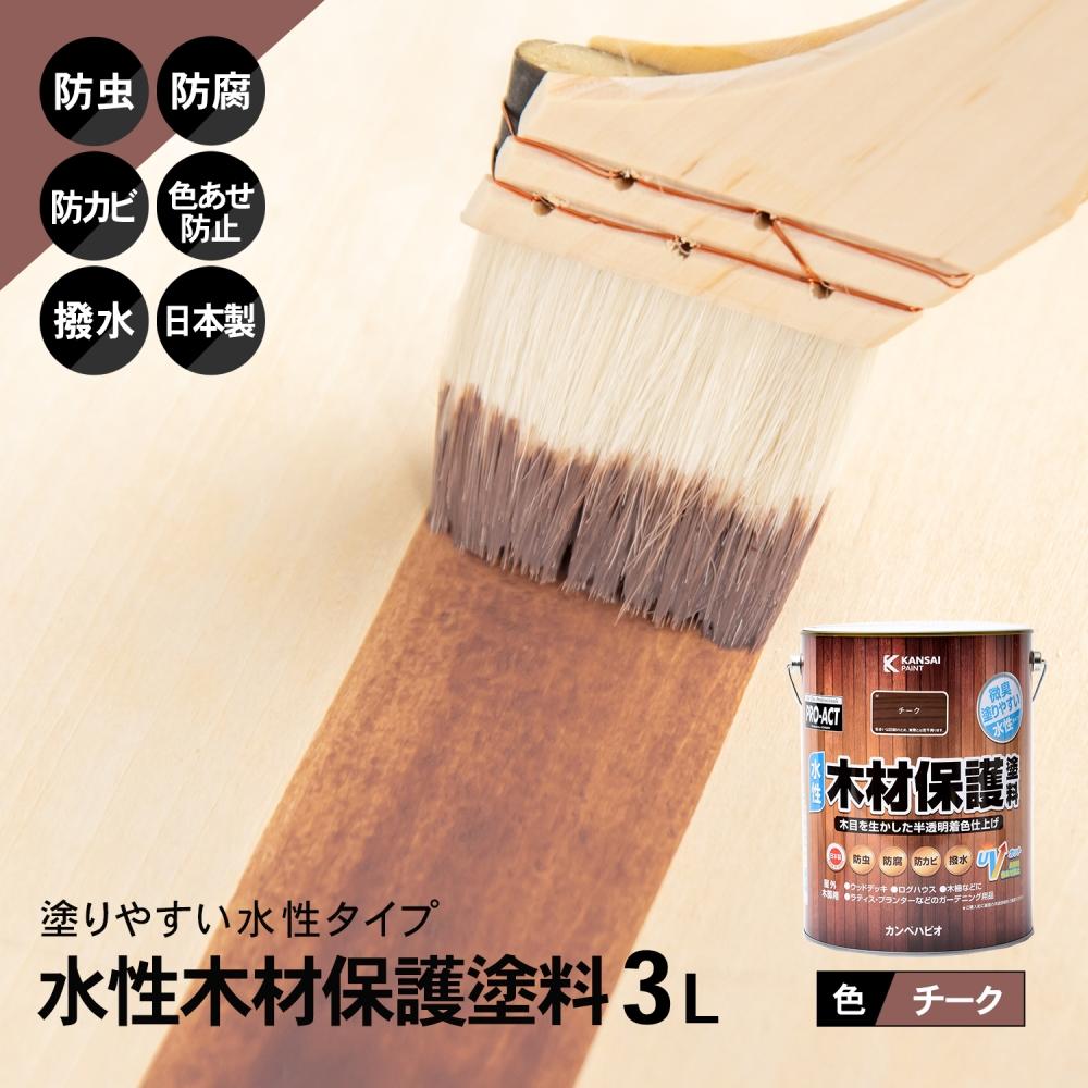 コーナン オリジナル PROACT 水性木材保護塗料 3L チーク