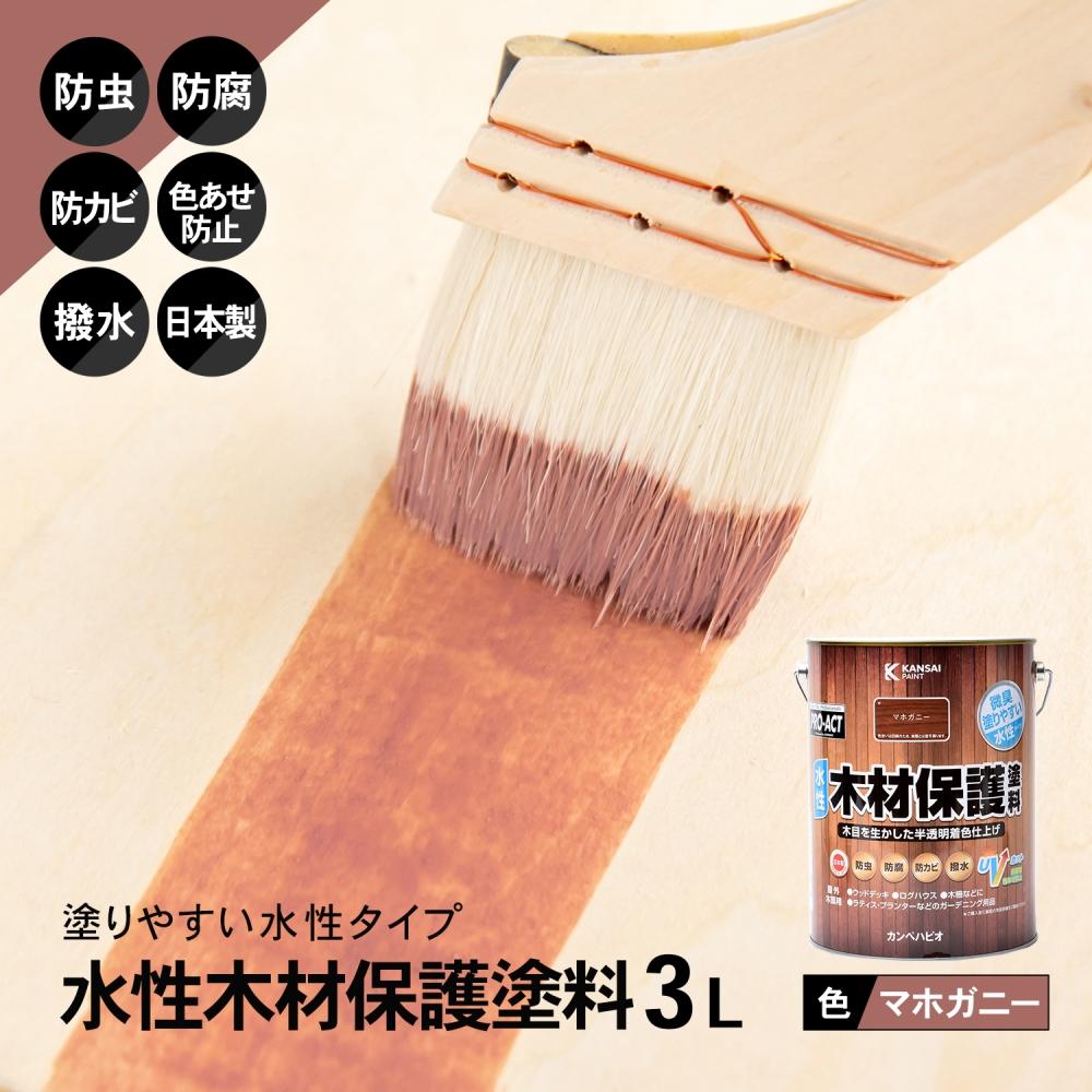 コーナン オリジナル PROACT 水性木材保護塗料 3L マボガニー