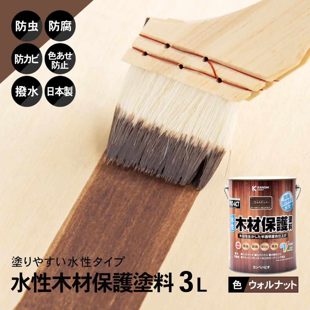 コーナン オリジナル PROACT 水性木材保護塗料 3L ウォルナット