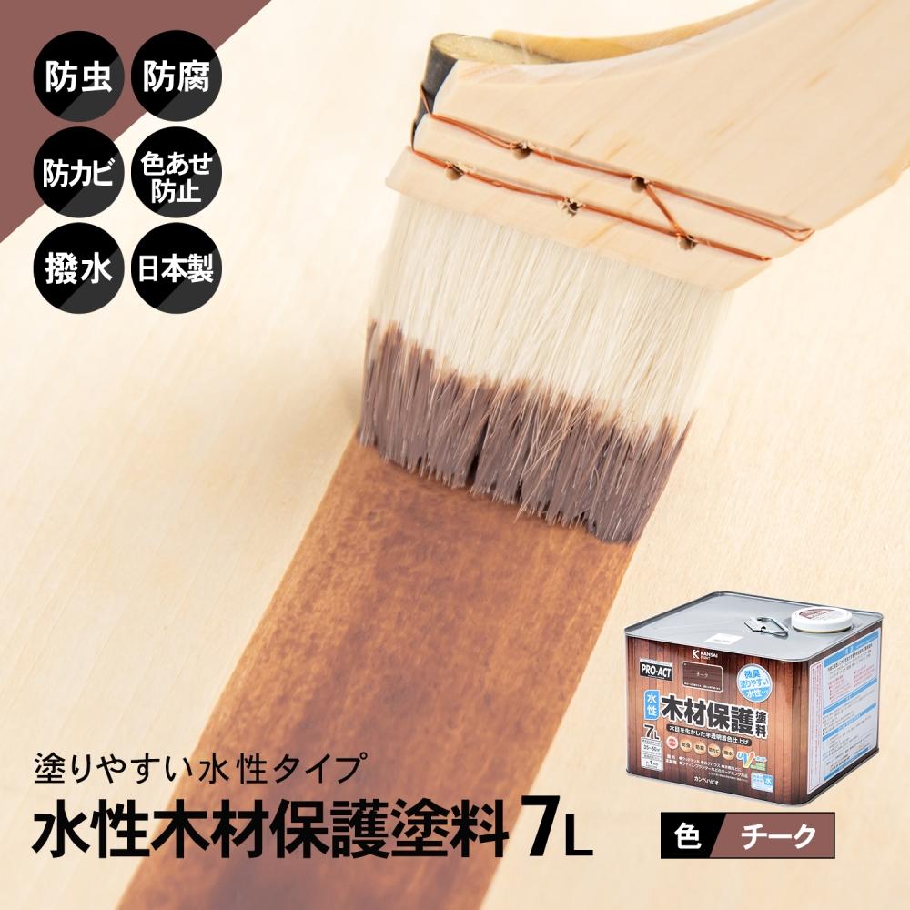 コーナン オリジナル PROACT 水性木材保護塗料 7L チーク