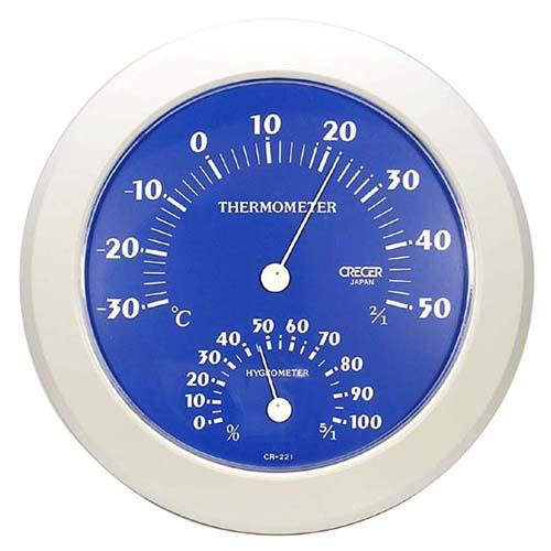 CRECER 温湿度計 ブルー CR−221B