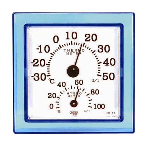 CRECER 温湿度計クリアミニ ブルー CR−12B