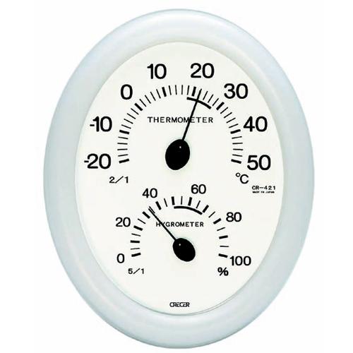 CRECER 温度計・湿度計 CR−421W
