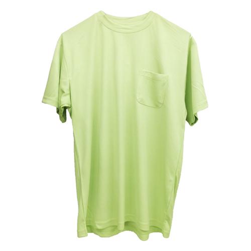 紳士半袖丸首Tシャツ ライトグリーン LL FS13−KHT−B