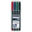 ルモカラー油性ペン 細書き 線幅M 4色セット317 WP4 341164