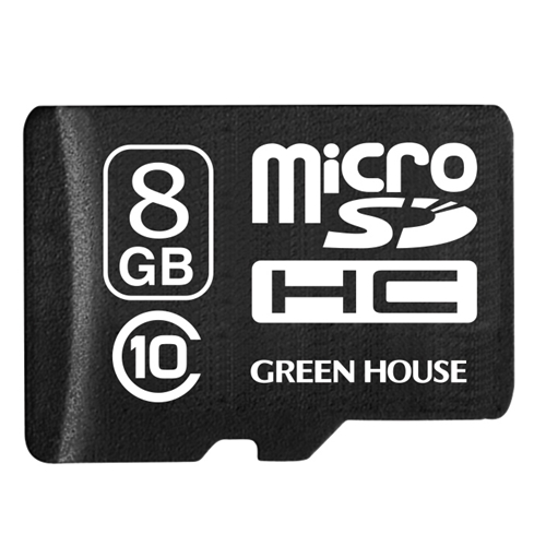 GREEN HOUSE データ復元サービス付 マイクロSDHC 8GB CL10  GH−SDMRHC10DA−8G