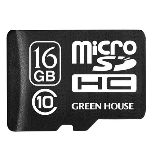 GREEN HOUSE データ復元サービス付 マイクロSDHC 16GB CL10  GH−SDMRHC10DA−16G