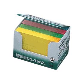 ポスト・イット再生紙エコノパックグラデーション4色混5601 333550