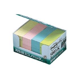 ポスト・イット再生紙エコノパック4色混色 5001−K