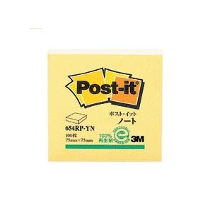 ポスト・イットノート再生紙シリーズイエロー654RP−YN 331033