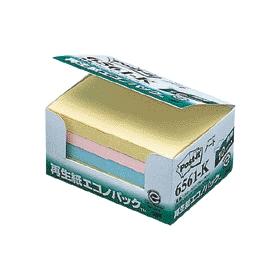 ポスト・イット再生紙エコノパック4色6561−K 10冊入 333603